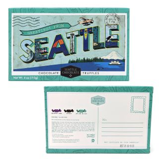 Seattle Chocolates - Seattle Postcard Truffle Box - 4 oz