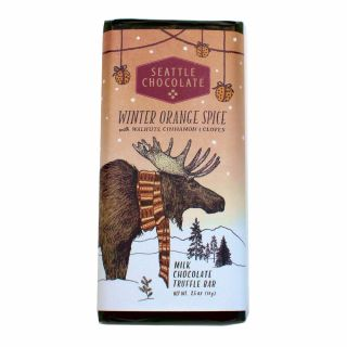 Seattle Chocolates - Winter Orange Spice Truffle Bar - 2.5 oz