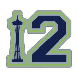 Seattle Seahawks - Large Sticker - 5 x 4.4