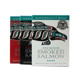Smoked Salmon Trio - Premium, Sockeye, and Pepper Garlic Salmon - 12oz