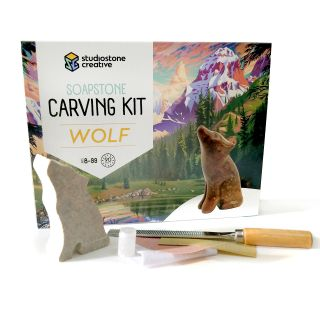 Soapstone Carving Kit - Gray Wolf