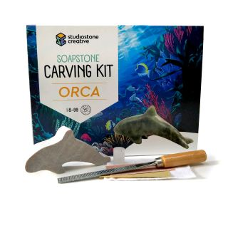 Soapstone Carving Kit - Orca Whale