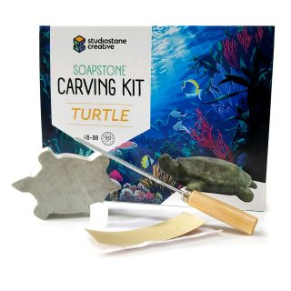 Soapstone Carving Kit - Turtle