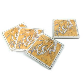 Tacoma & South Puget Sound Ceramic Coaster - Best Price - 4 coasters