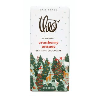 Theo Chocolate - Cranberry Orange Dark Chocolate Bar - 3oz