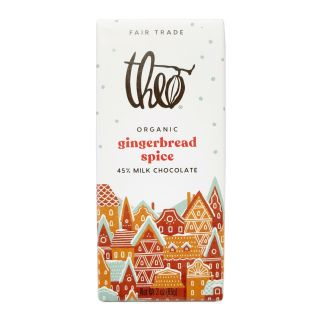Theo Chocolate - Gingerbread Spice Milk Chocolate Bar - 3oz