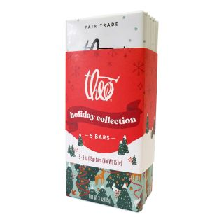Theo Chocolate - Holiday Collection Chocolate Bar 5-pack - 15oz