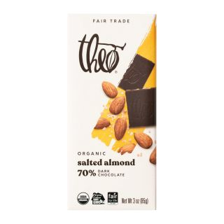 Theo Chocolate - Salted Almond Dark Chocolate Bar - 3oz