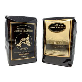 Vashon Island Coffee Roasterie - Whole Bean Orca and Rainier Rising Blends - Best Price: 1 of each (24 oz)