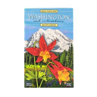 Wildflowers Seed Postcard - Red Columbine