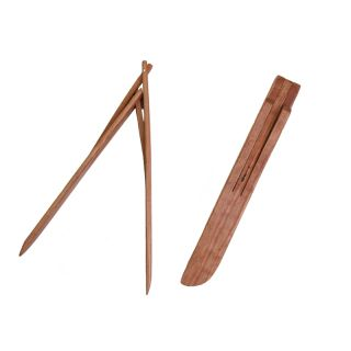Wooden Salad Tongs - Cherry