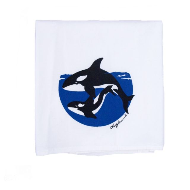 100% Cotton Kitchen Towel - Orca - 25