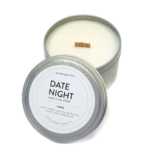 Anchored Northwest 6oz Travel Tin Candle - Date Night