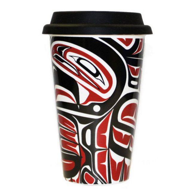 Ceramic Travel Mug - Preserve - Eagle Design - 5