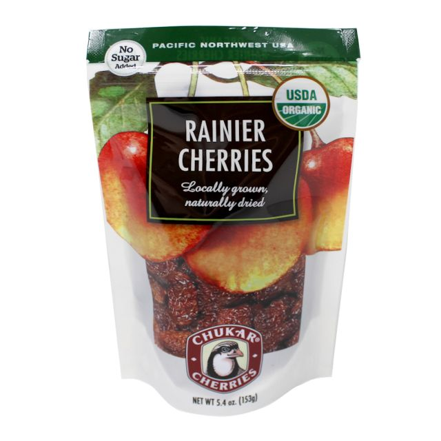 Chukar Cherries - Organic Dried Rainier Cherries - 5.4oz