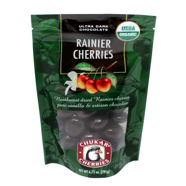 Chukar Cherries - Organic Ultra Dark Chocolate Covered Cherries - 6.75oz