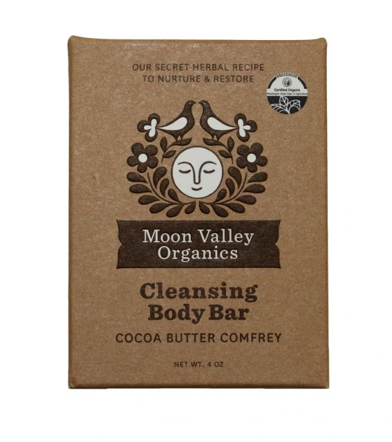 Cocoa Butter Comfrey Bar Soap  - Moon Valley Organics - 4oz