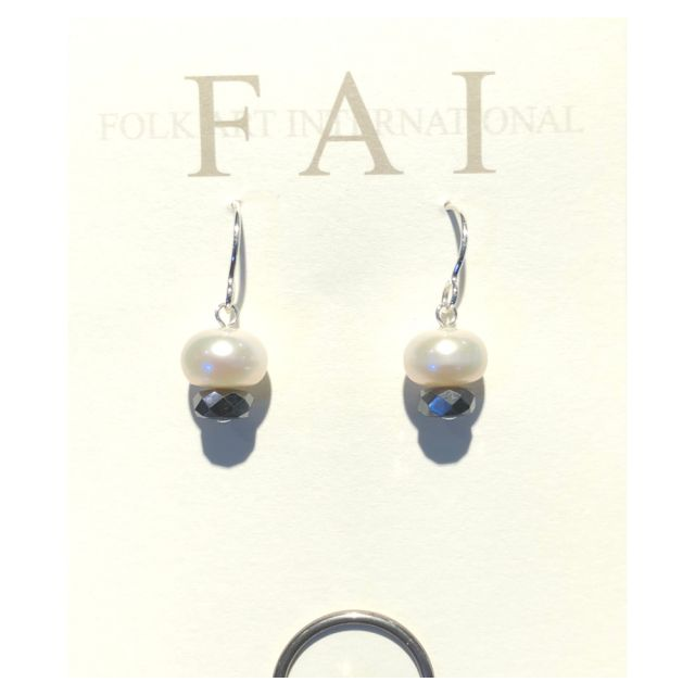 FAI Jewelry - Sterling Silver with Pearl and Gem Stone Earrings