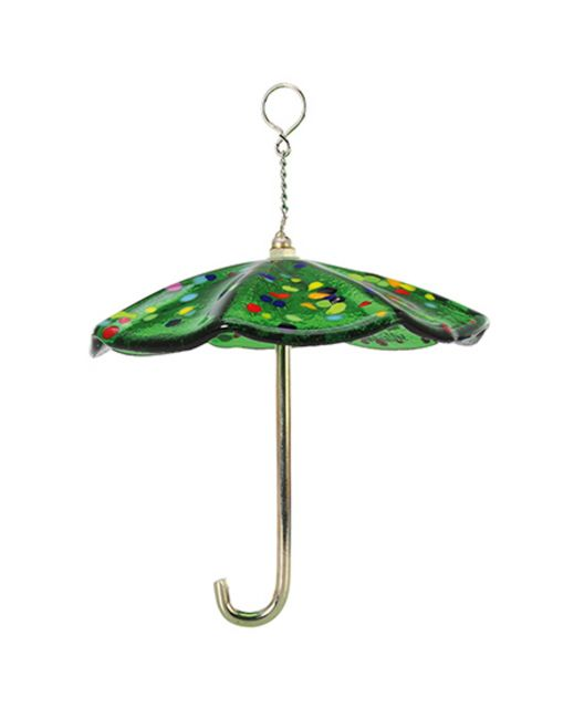 Glass Eye Studio - Bumbershoot Umbrella Ornament - Green