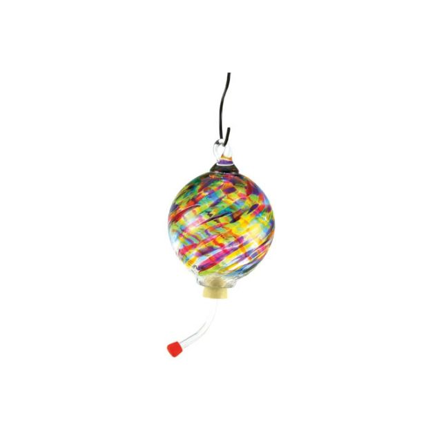 Glass Eye Studio - Hummingbird Feeder - Rainbow Twist - 4