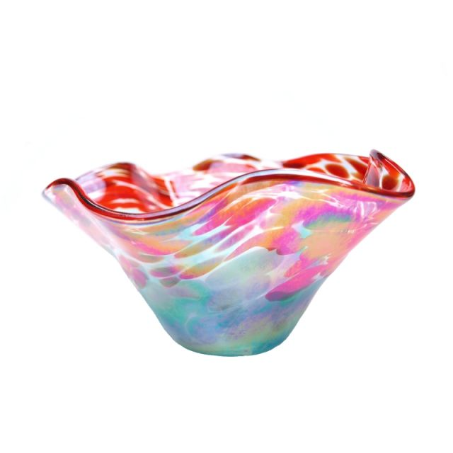 Glass Eye Studio - Mini Wave Bowl - Poppies - 6