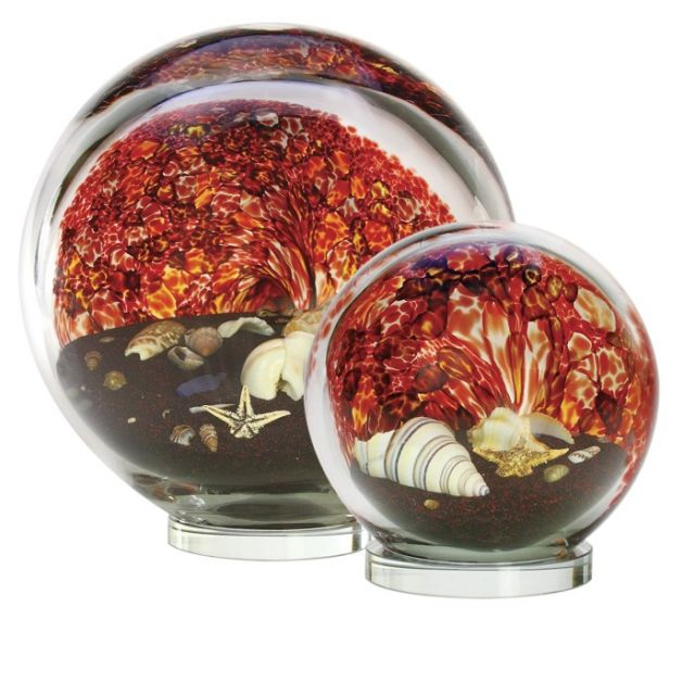 Glass Eye Studio Volcano Sea Globe - Small - 3.5