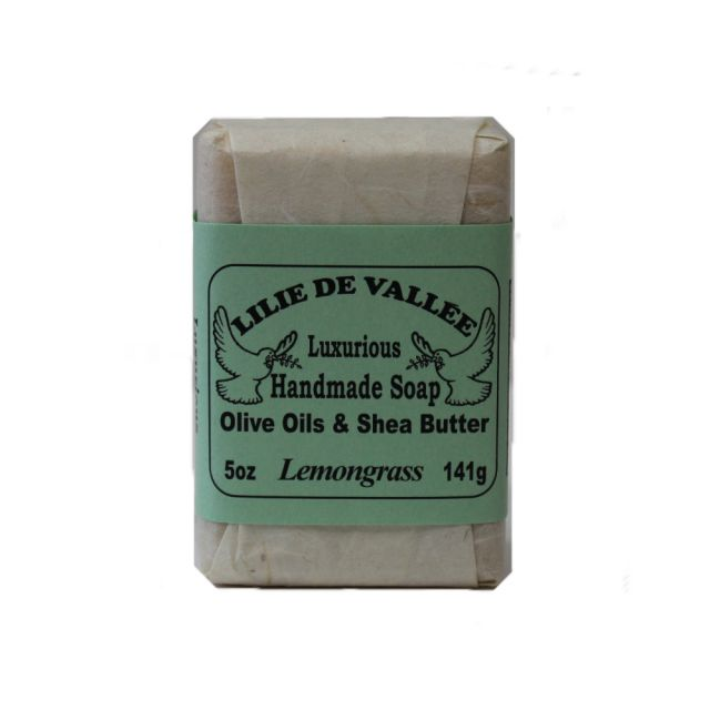 Handmade Soap - Olive Oils & Shea Butter - Lemongrass Scent - 5 oz