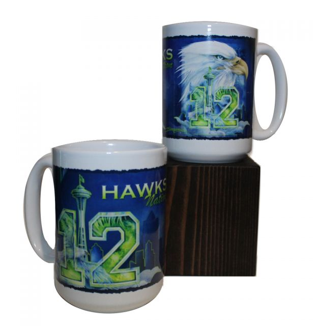 Hawks Nation Mug - The Needle, The Hawk and The '12'