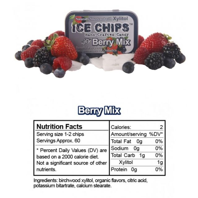 Ice Chips - Berry Mix Xylitol Mints - 1.76oz