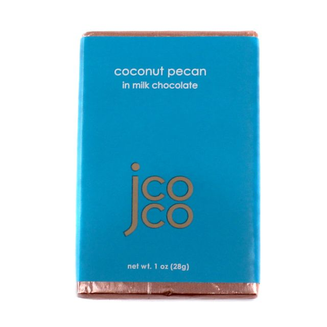 Jcoco Chocolate's Coconut Pecan Mini Bar - 1oz