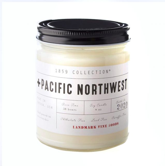 Landmark 1859 Collection Soy Candle - Pacific Northwest Scent - 8oz