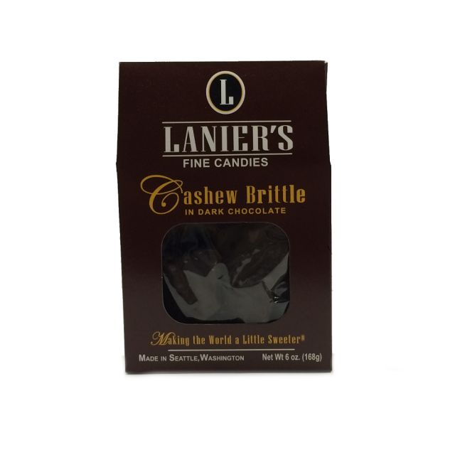 Lanier's Dark Chocolate Cashew Brittle - 6 oz