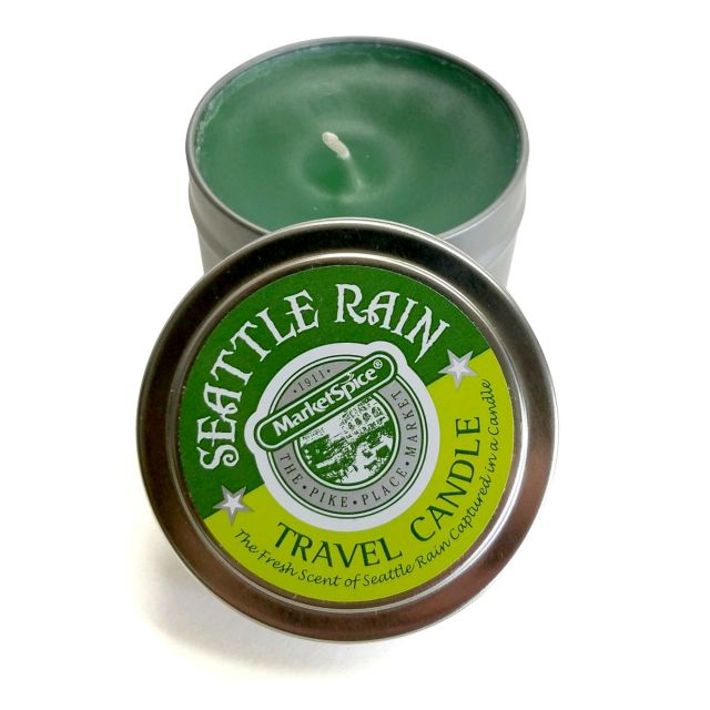 Market Spice Travel Tin Candle - Seattle Rain Scent