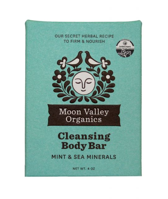 Mint & Sea Minerals Bar Soap - Moon Valley Organics - 4oz