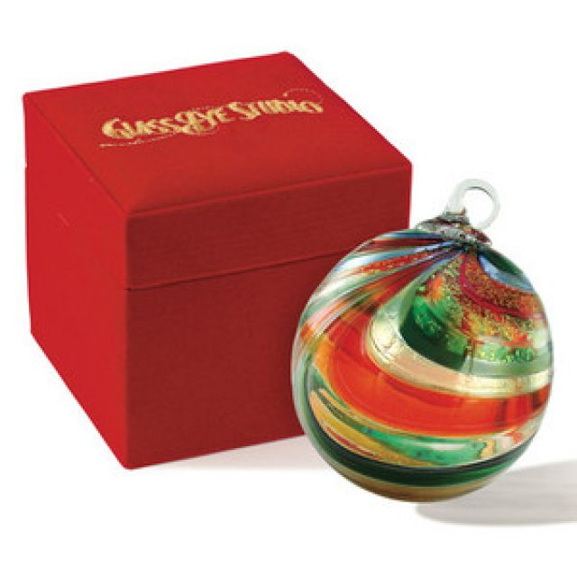 Mt. St. Helens Ash Hand Blown Glass Ornament - Limited Edition 2012 - Tinsel - 3