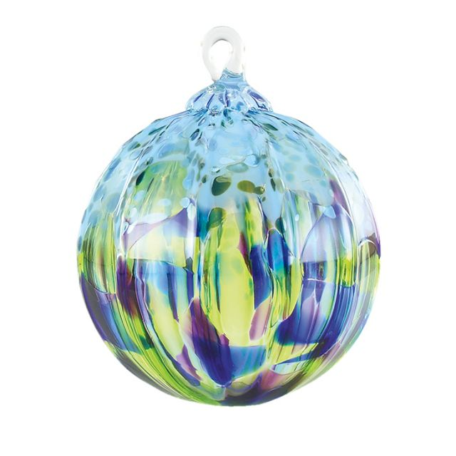 Mt. St. Helens Volcanic Ash Hand Blown Art Glass Ornament - Island Sprinkle - 3