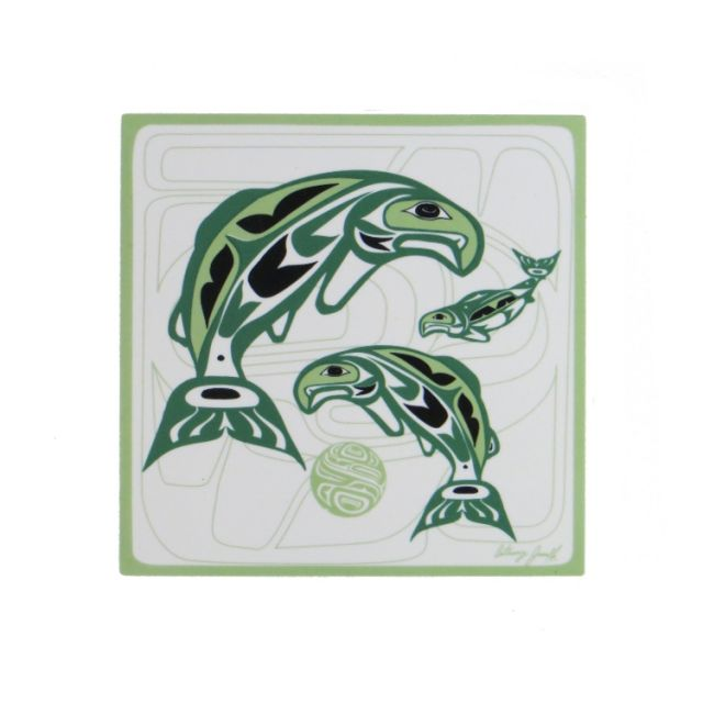 Native American - Circle of Life Salmon Design - Trivet