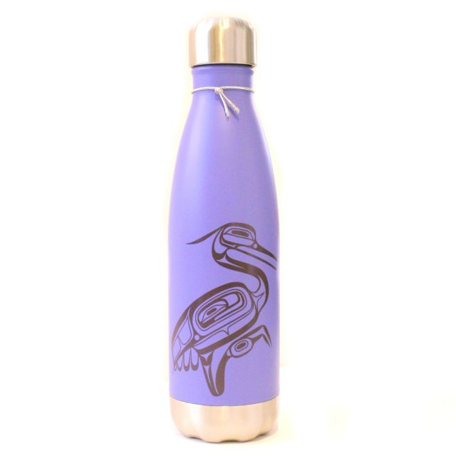Native American Insulated Water Bottle - Heron (16 oz)