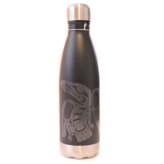Native American Insulated Water Bottle - Raven (16 oz)