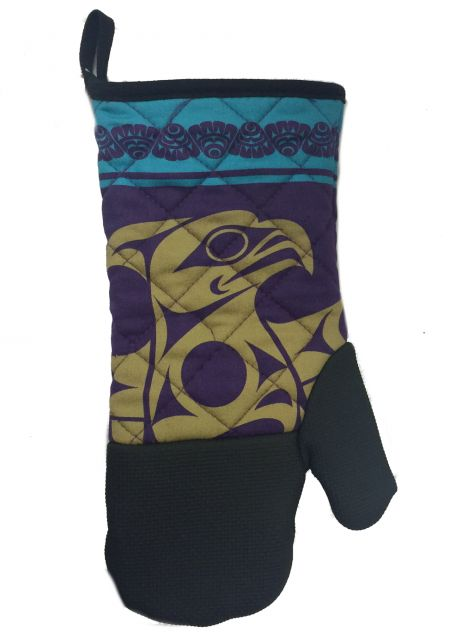 Native American - Thunderbird Design - Oven Mitt