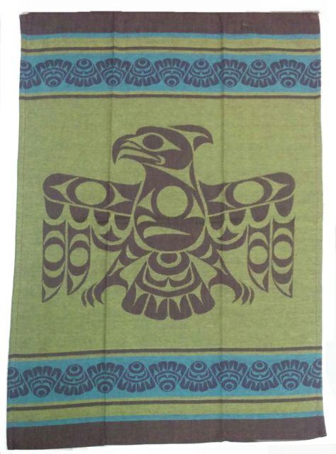 Native American - Thunderbird Design - Tea Towel