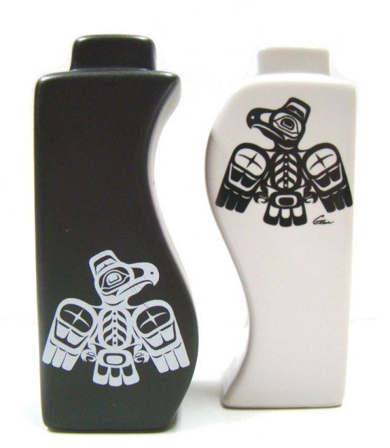 North Coast Indian Eagle Design - Salt and Pepper Shakers