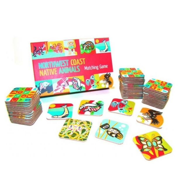 Northwest Coast Indian Native Animals Matching Game