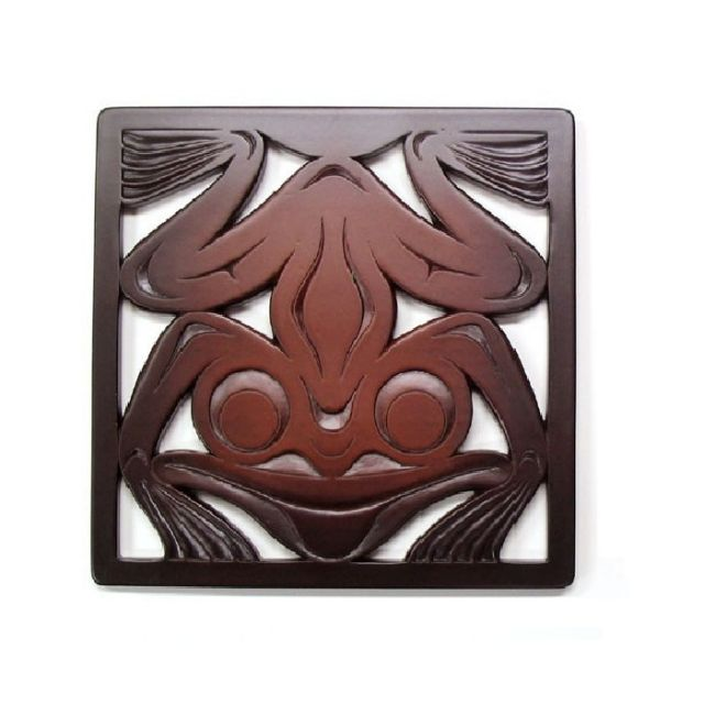 Pacific Northwest Coast Native American Frog Trivet - 7