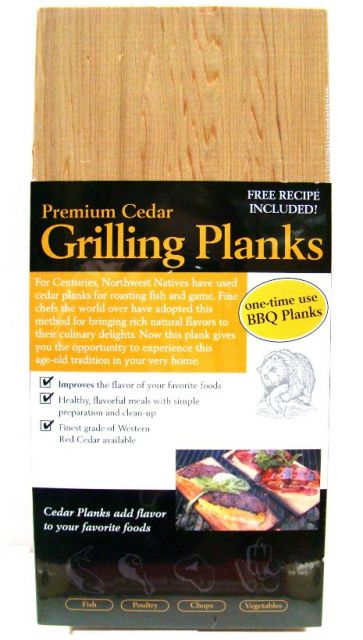 Premium Cedar Grilling BBQ Planks - Set of 6 planks