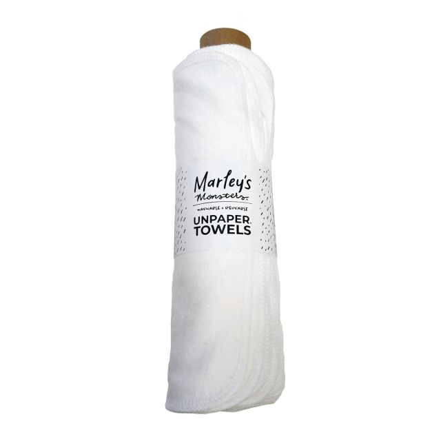 Reusable Unpaper Towels - Roll of 12, White