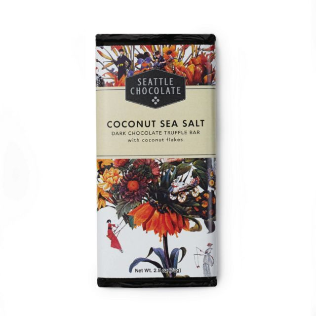 Seattle Chocolates - Coconut Sea Salt Truffle Bar - 2.5 oz