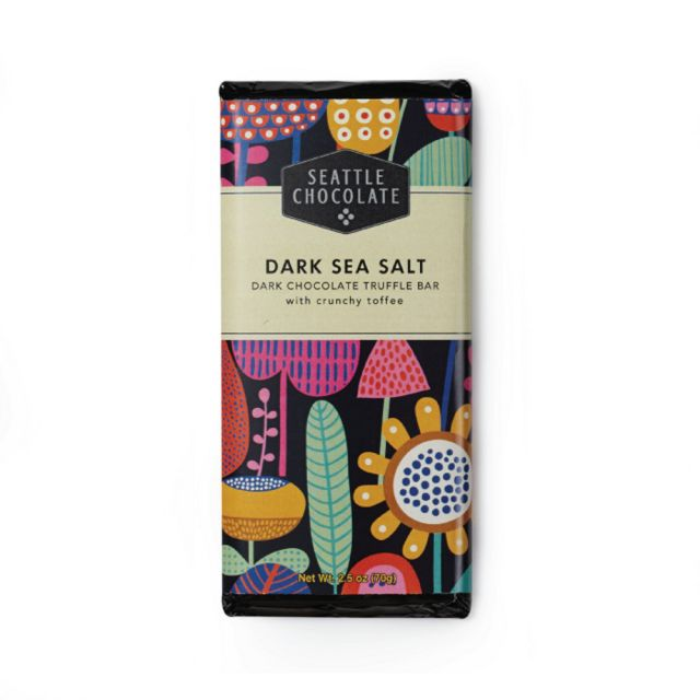 Seattle Chocolates - Dark Sea Salt Truffle Bar, 2.5 oz