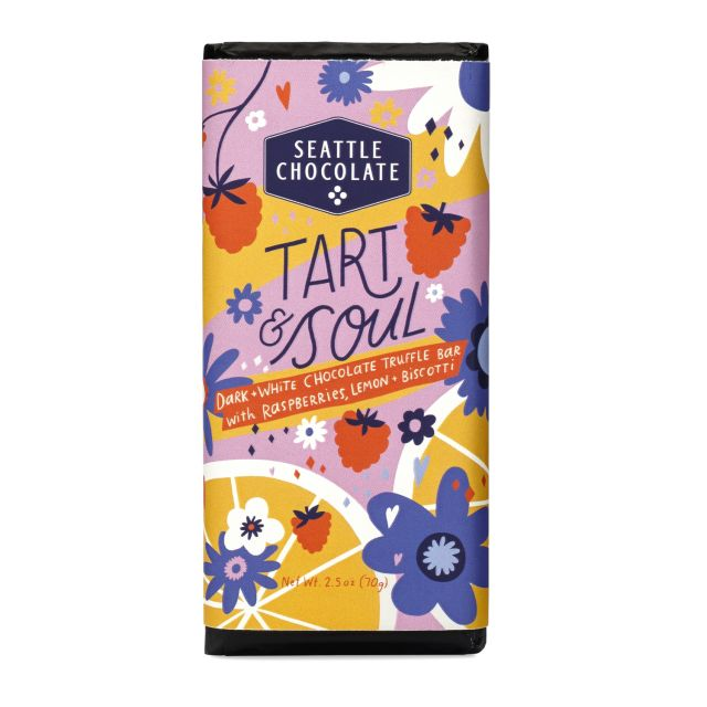 Seattle Chocolates - Tart & Soul Truffle Bar - 2.5 oz