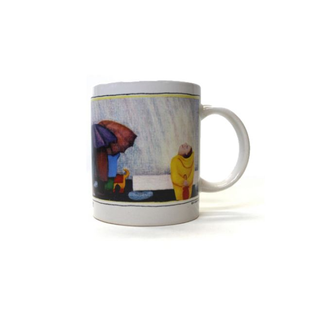 Smile At The Rain Ceramic Mug - By Beth Logan
